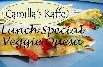 Camilla's Kaffe Lunch Special for 03/08/16