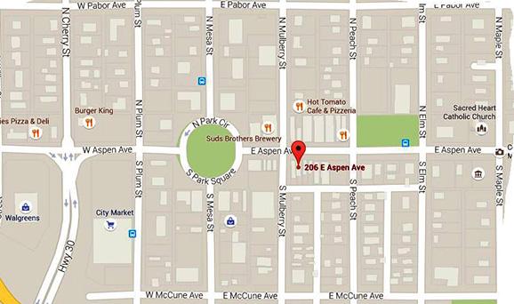 Camilla's Kaffe map 206EAspenSt